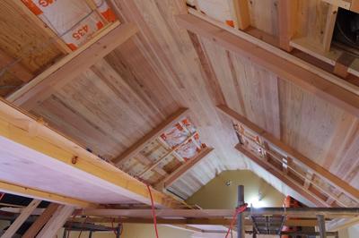 天井仕上げ材貼り